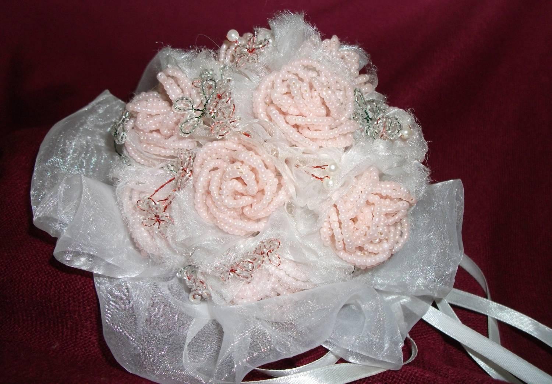 Букет невесты из бисера схема - Делаем фенечки своими руками.