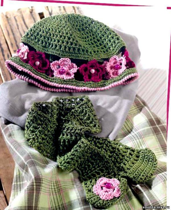 Описание: Модели вязания крючком шарфы. мотивы схемы, летние шапочки