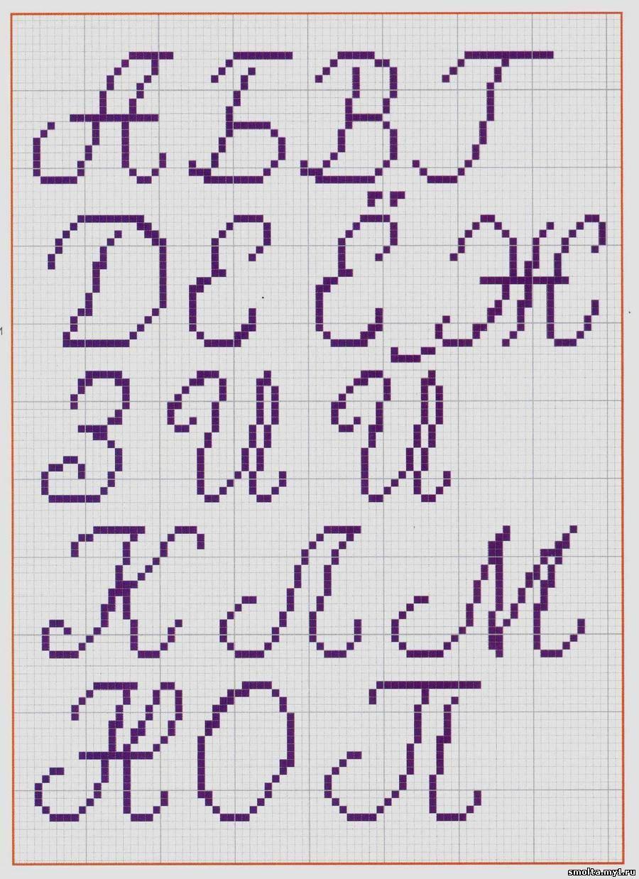 Буквы для вышивания крестиком схемы для метрики