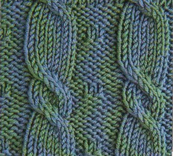 Рхема вязания спицами узора 49 с косами, детские узоры спицами.