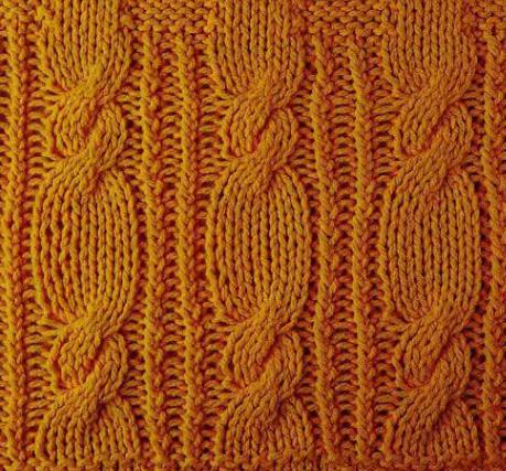 вязание спицами узоры коса косичка.