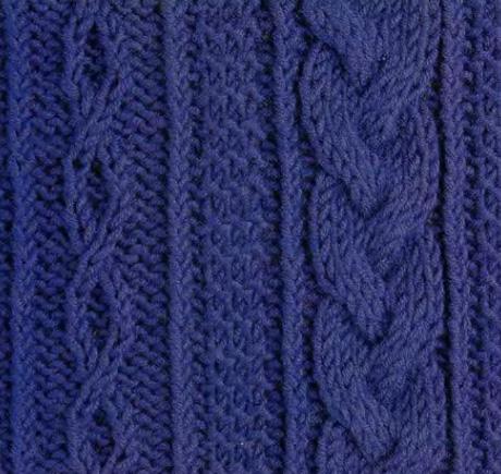 вязания узора крупные объемные косы.