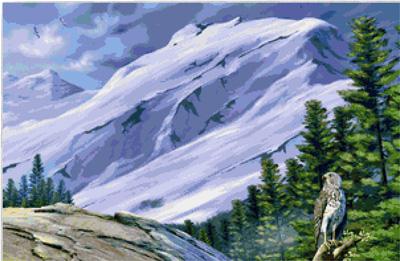 Вышивка крестиком горы