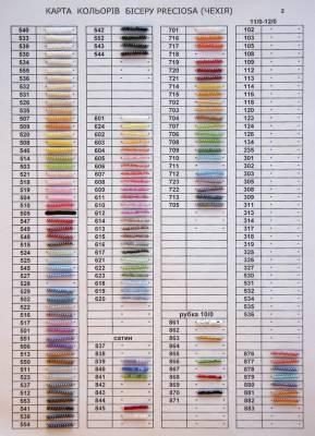 Таблица соответствия цветов и