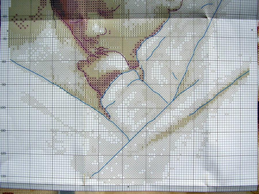 Схема из журнала: Вышиваю