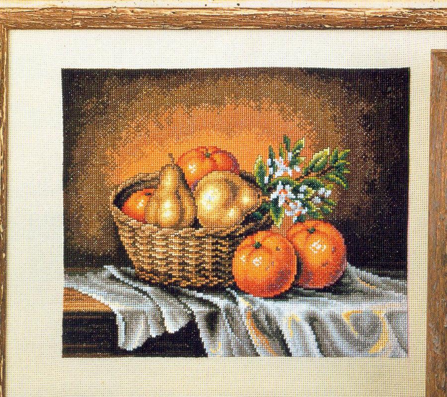 Изображение схемы. натюрморт с апельсинами.